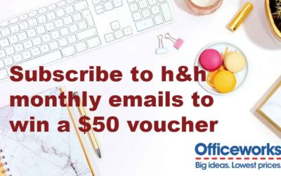 Sign up to our newsletter for your chance to win a $50 Officeworks voucher